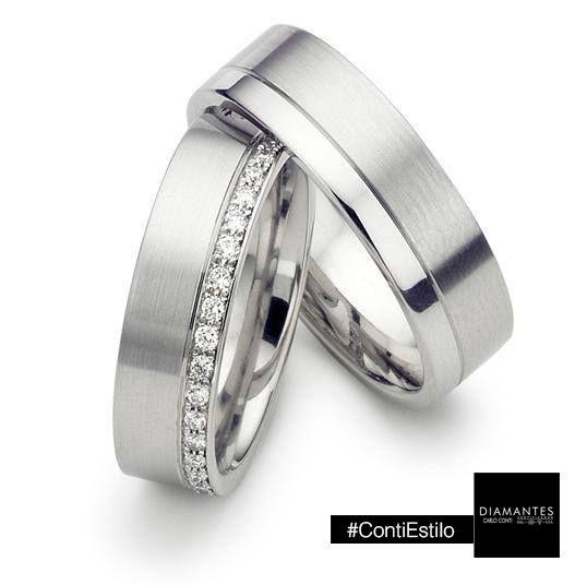 #Originales y #elegantes #argollas de #matrimonio.  #GaleríaJoyera #Estilo #CarloConti