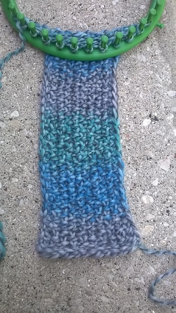 Knit Stitch Loom Instructions : 25+ best ideas about Loom scarf on Pinterest Loom crochet, Loom knitting an...