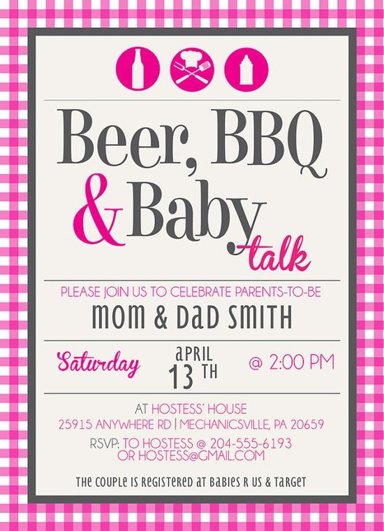 beer bbq baby talk coed baby shower invite by kateogroup on etsy