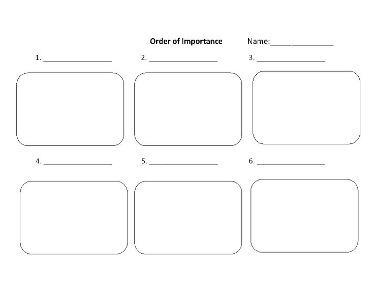 Order of Importance Text Structure Worksheets