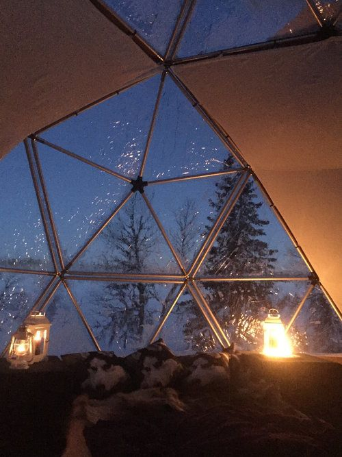 Stay in an uber cool ARCTIC DOME at Sjusjøen, near Lillehammer #NORWAY