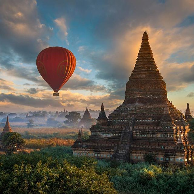 One of my favorite places on Earth, the ancient city of Bagan, in Myanmar. Yesterday a 6.8 magnitude earthquake hit the city killing 4 and damaging nearly 200 of the beautiful pagodas there. Truly saddened seeing a place like this suffer s tragedy. I took this photo several years ago, I hope this beautiful structure is still standing :-/