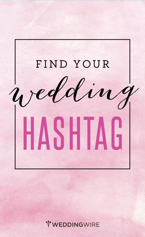 You've never seen a wedding hashtag generator like this one - sign up to create yours!
