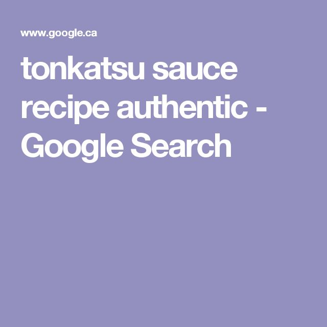 tonkatsu sauce recipe authentic - Google Search