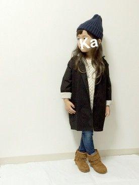 kannn ⁂│SHIPS KIDSのブーツコーディネート