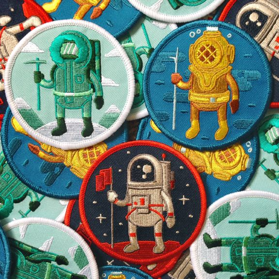 Adventure Club #1 – Diver Patch · Rad Stuff · Online Store Powered by Storenvy
