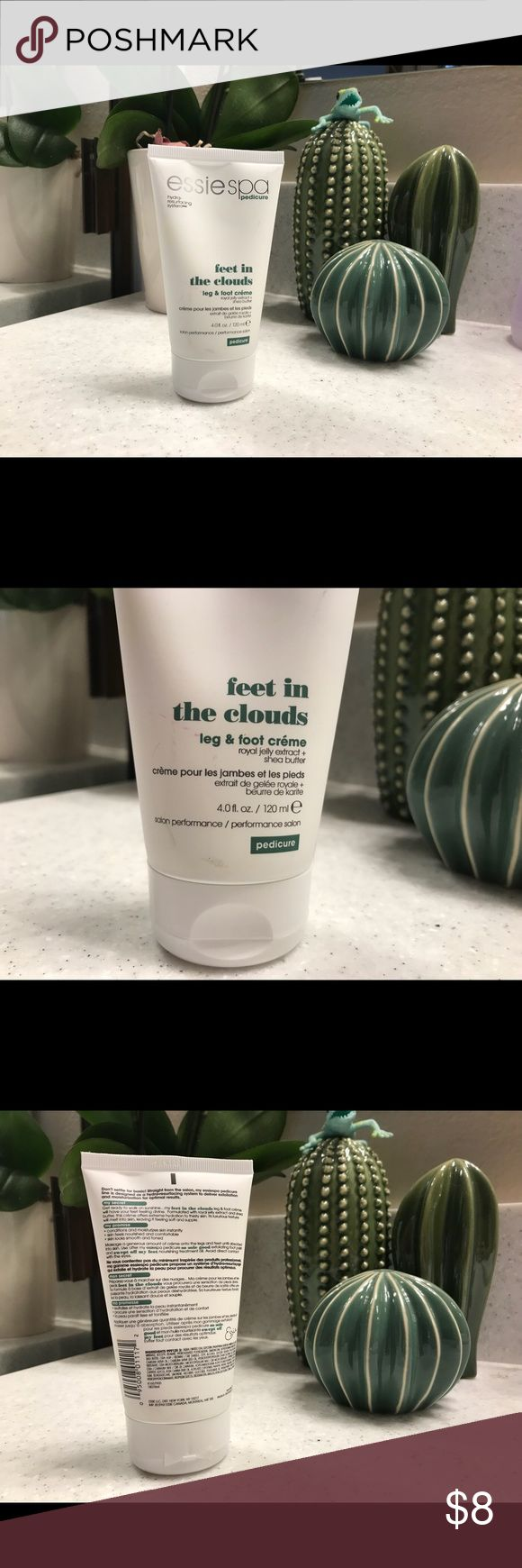 Essie Spa Pedicure Feet in the Clouds Lotion Leg & Foot Creme with royal Jelly extract and she's butter! Perfect for keeping your legs and feet silky smooth! Brand new! Essie Spa Other