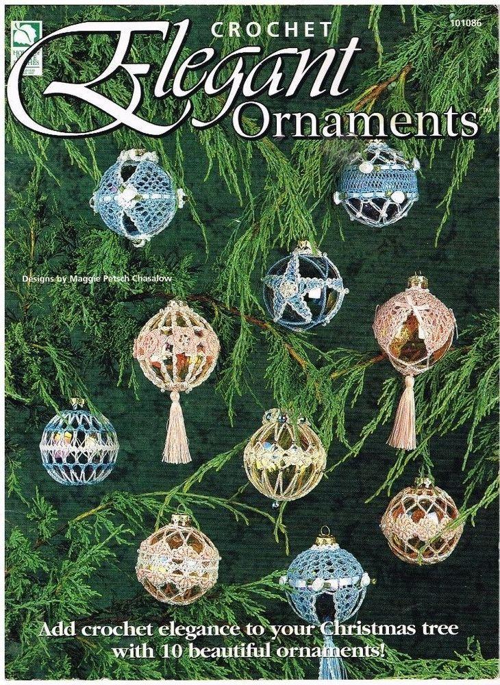 Crochet Pattern Elegant Ornaments Ornament 10 Patterns Hard to Find Book 1997 #HouseofWhiteBirches