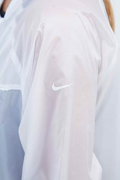 Nike Transparent Jacket in White| @andwhatelse