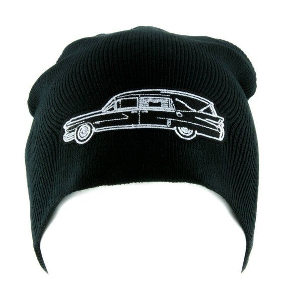 Funeral Hearse Car Beanie Knit Cap Dragula Alternative Gothic Clothing DYS-EMPA-HEARSE-Beanie