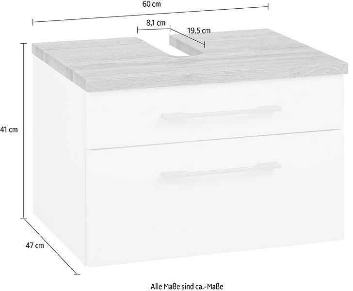 Held Möbel Waschbeckenunterschrank »Davos«, Breite 60 cm ...