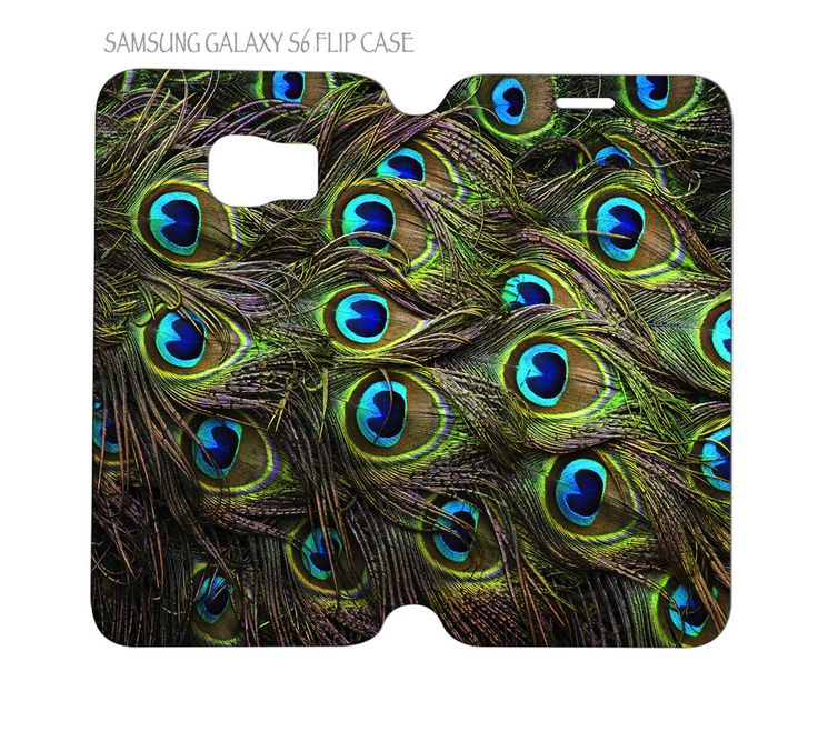 Samsung Galaxy S6 G920 Folio Flip Case Cover Beautiful Peacock Feathers #QuinnCafe