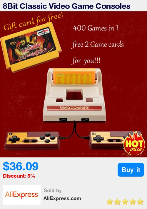 8Bit Classic Video Game Consoles Nostalgic original TV game player Family Fcomputer Play With Free 400 Games Card Free Shipping * Pub Date: 09:58 Jul 2 2017