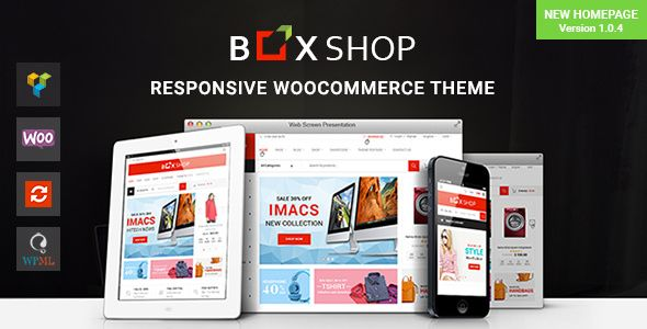BoxShopis a WooCommerce WordPress theme designed for shopping online stores. We have included multiple layouts for home page product page to give you best selections in customization. BoxShop is suitable for the eCommerce websites such as supermarket furniture glasses shoes fashion electronics houseware organic  or anything you want.  BoxShopis a professional WordPress theme. It comes with a lot of features and variations:Responsive Layout Mega Menu Page Builder Awesome Slider Revolution RTL…