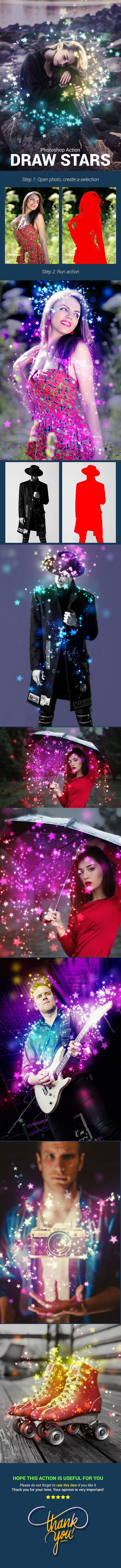 Draw Stars — Photoshop ATN #blur #art • Download ➝ https://graphicriver.net/item/draw-stars/21456030?ref=pxcr