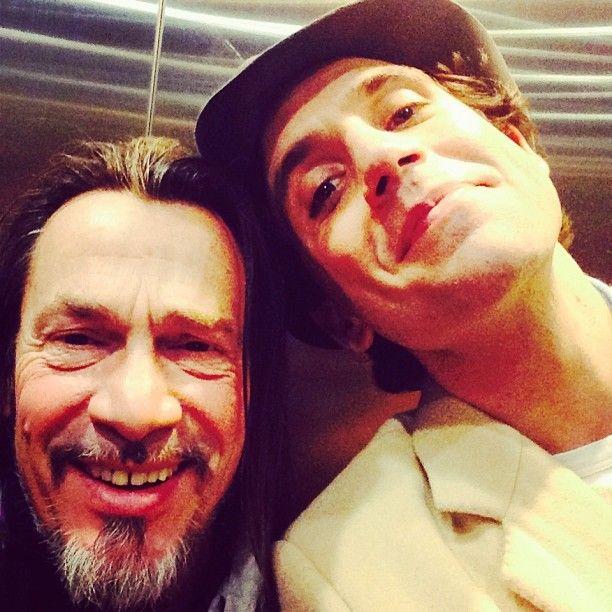 mika & florent pagny's selfie