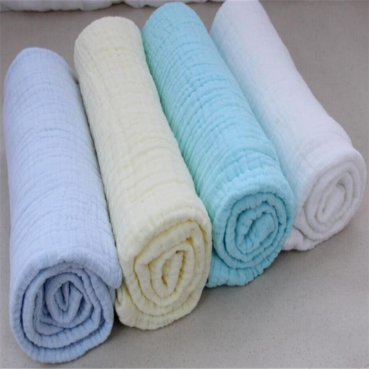 Newborn 100% Cotton Muslin Blanket Baby 6 Layers Gauze Bath Towel Swaddle Infant Hold Wraps 110cm*110cm 350g 2017 New Arrive 30C