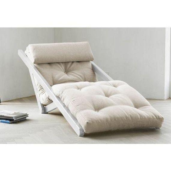 Ligstoel met futonmatras en nekkussen