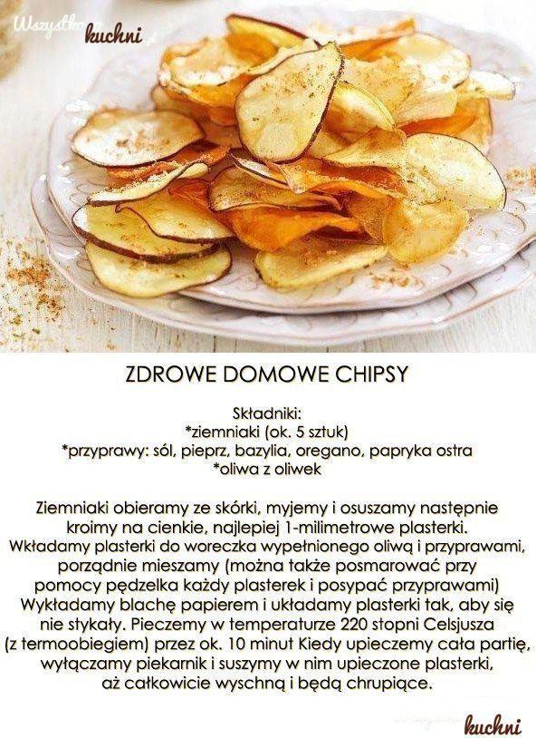 Przepis na zdrowe domowe chipsy...