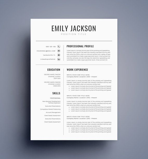 Resume Template Cv Template For Ms Word Best Selling Etsy Resume Template Professional Modern Resume Template Resume Template