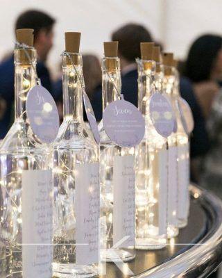 Decoraciones de boda DIY Luces LED en diseño de mesa de botella de vino