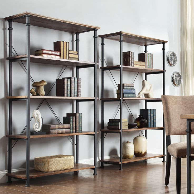 TRIBECCA HOME Myra Vintage Industrial Modern Rustic 3-piece TV Stand and 40-inch Bookcase Set | Overstock.com Shopping - The Best Deals on Media/Bookshelves
