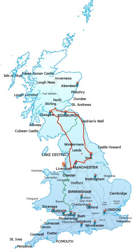 Northern England and Scottish Cities, Britain + UK Vacation Packages - England, Scotland and Wales Travel Tours 2011