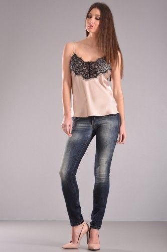 Μπλούζα τοπ lingerie με διακοσμητική δαντέλα μπροστά σε μπεζ χρώμα. 29,90€    Μεγέθη : Small / Medium / Large  Χρώμα : Μπεζ  Σύνθεση : 100%PES