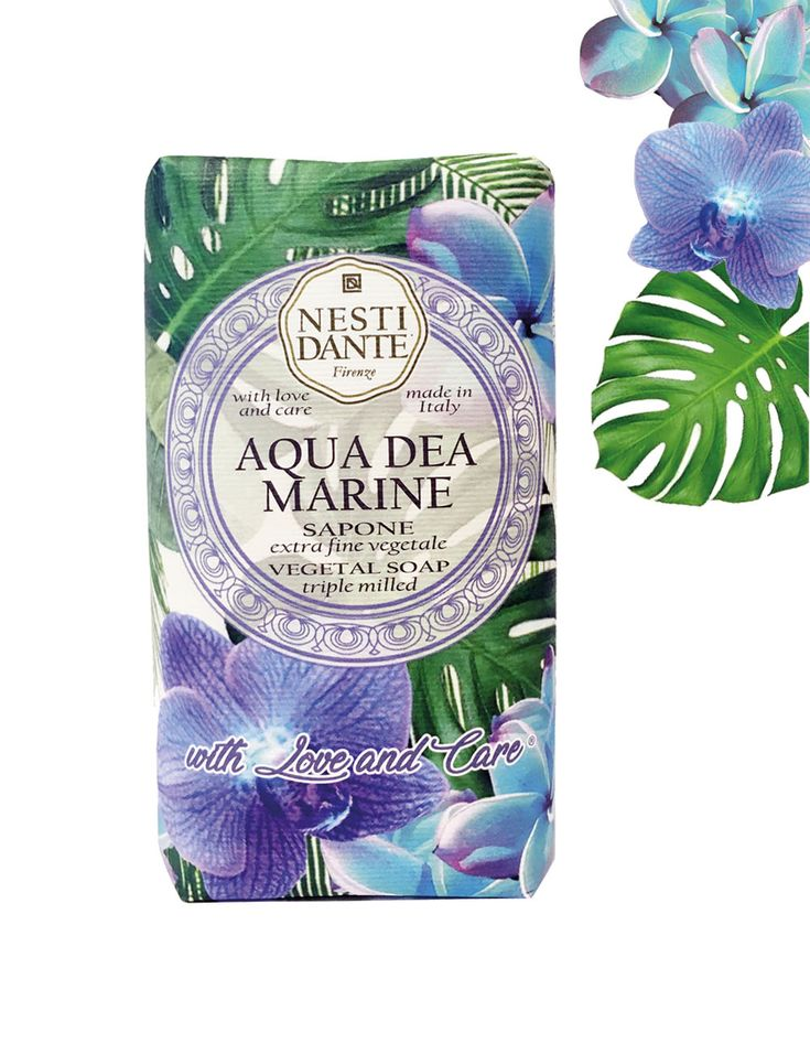 Nesti Dante Aqua Dea Marine Soap Bar - The soft and rounded note of sea salt pay tribute to water, symbol of life, purity and rebirth.