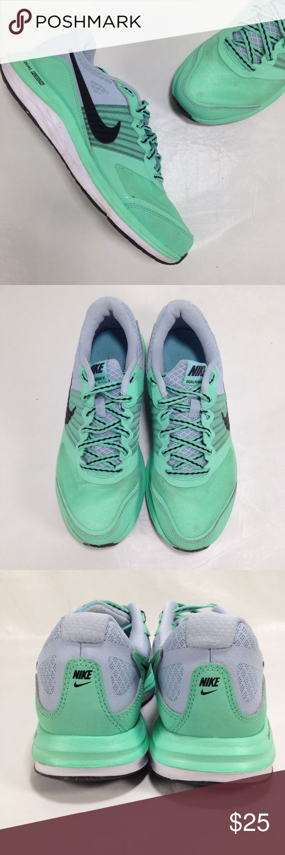 Nike Dual Fusion X Mint Green Has a couple spots. Overall good condition. Nike Shoes Athletic Shoes