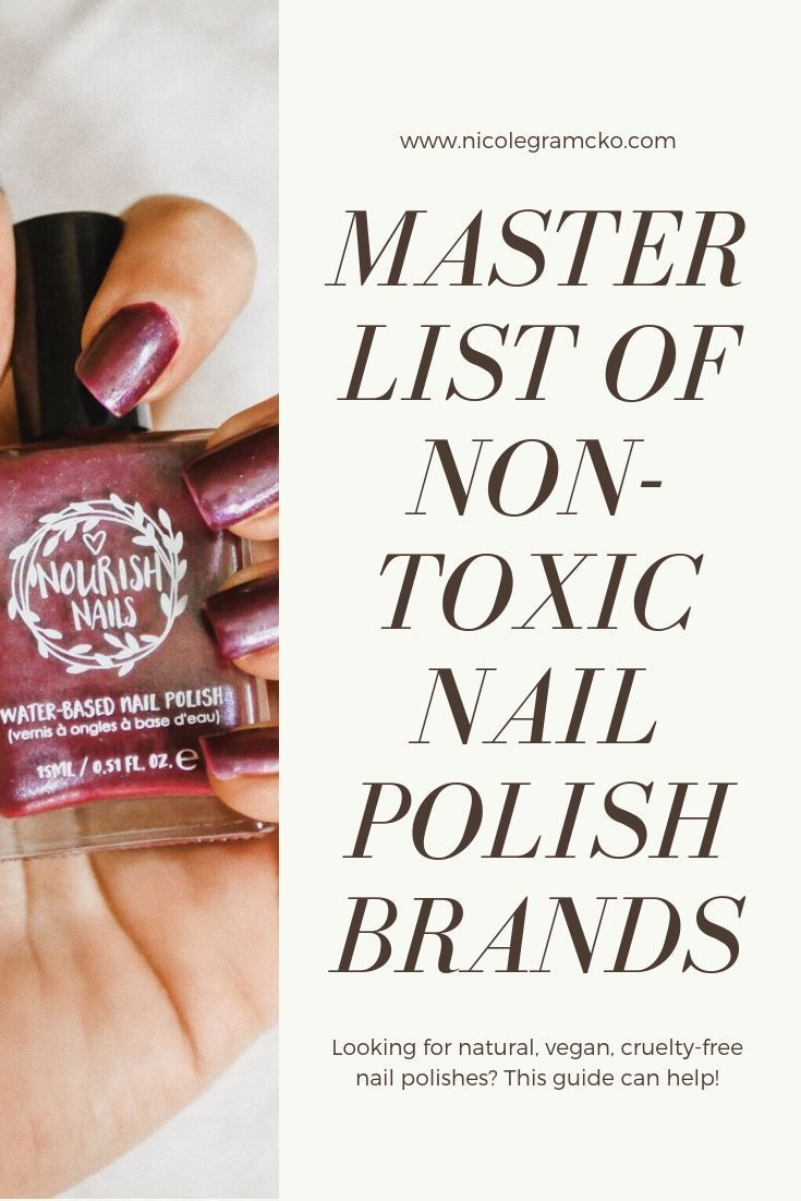 A master list of all non-toxic, natural nail polish brands including vegan and c…
