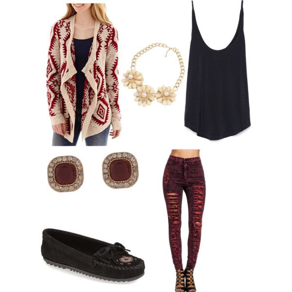 Let's Go Maroon!☺️ by shaydaniels547 on Polyvore featuring polyvore, fashion, style, Arizona, Zara, Minnetonka and Accessorize