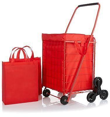 3-Wheel Stair-Climbing Folding Cart with Nylon Liner