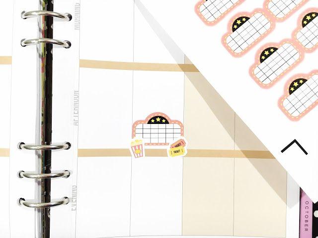 Free Planner Stickers // Cricut Ready Movie Stickers