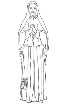 st frances xavier cabrini catholic coloring page