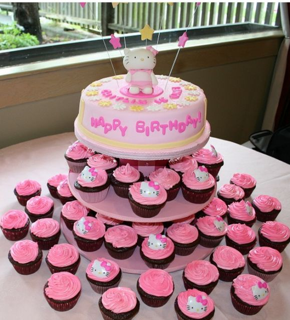 69 best bday cake images on Pinterest Hello kitty cake Hello