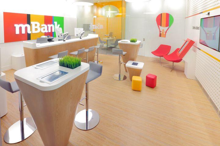 mBank Light Branch bank by ARS Retail+Shopfitting, Łódź – Poland