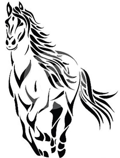 Horse Outline Tattoo