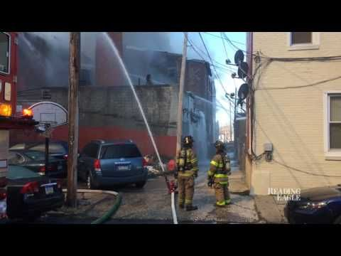 Reading firefighters battle blaze at abandoned warehouse (VIDEO) | Reading Eagle - NEWS