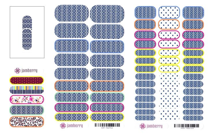 Jamberry vs. Jamberry Juniors sheets. Color coded sizing shows how 7 of the sizes on the juniors overlap with the sizes on the regular wraps. Jamberry Independent Consultant : https://enchantingjams.jamberry.com