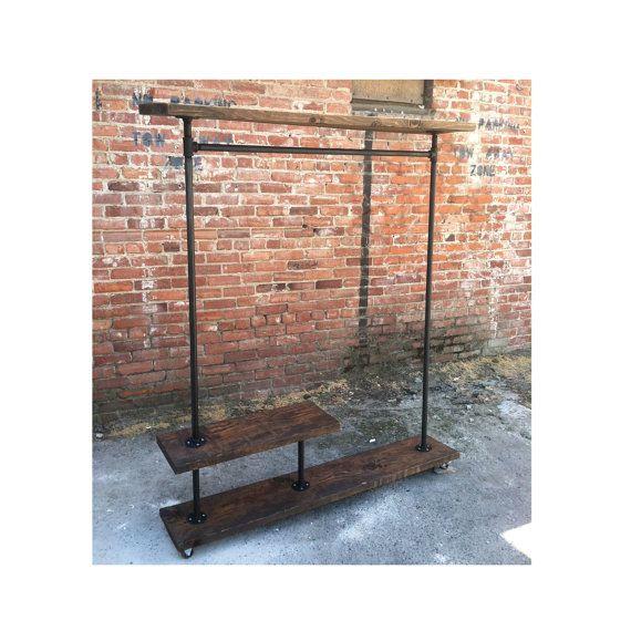 irh half shelf industrial clothes rack furniture. Black Bedroom Furniture Sets. Home Design Ideas