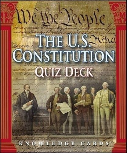 The U.S. Constitution Quiz Deck Knowledge Cards Card Game by Donald A. Ritchie #PomegranateCommunications