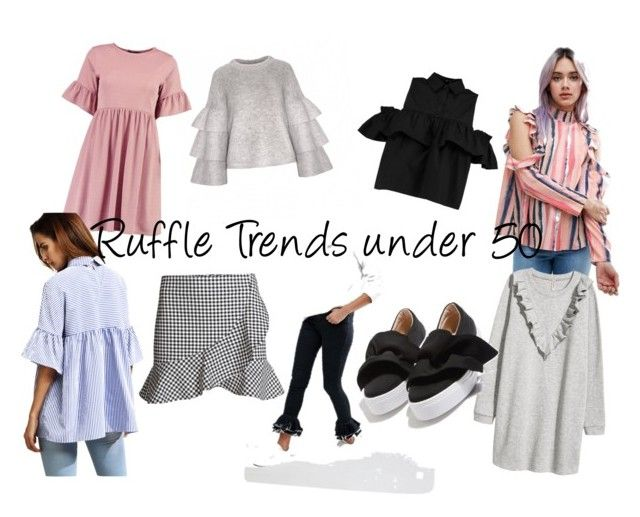 Ruffle Trends under 50 € by sarahshopaholicc on Polyvore featuring Mode, Volant, Boohoo, ASOS, Liquor n Poker, Topshop, ruffle and trend