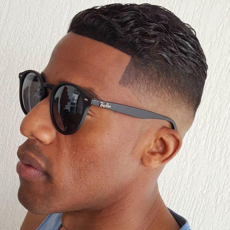 Wavy hair black men