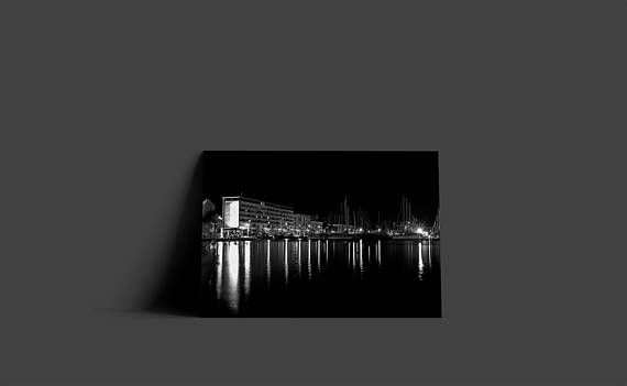 Black And White City Lights Poster City Art Prints Instant