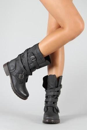 Adore these biker boots by daphnee.mauer