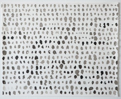 Untitled (Rows I) by Amy Pleasant, ink on paper