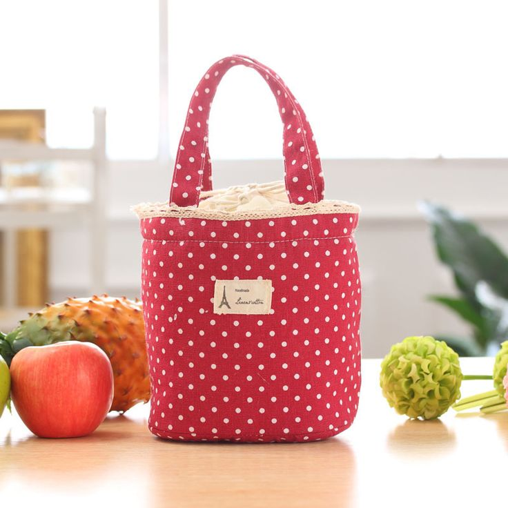 Splendid 2016 High Quality Women New Lunch Bags Round Thermal Insulated Lunch Box Cooler Bag Tote Bento Pouch Lunch Container