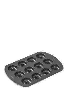 Wilton Bakeware Gunmetal Gray 12-Cavity Donut Pan