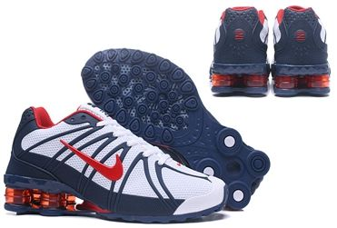 huge selection of d1f17 c217a NIKE SHOX surface Men Shoes White deep blue red